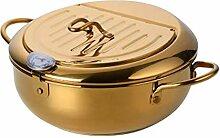 Sonline Acier Inoxydable Marmite à Frire avec Un