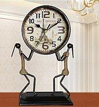 Sooiy Horloge de Table Horloge muette européenne