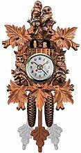 SOONHUA Horloge à coucou en bois faite à la main