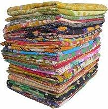 Sophia Art-Lot de 5couvre-lits vintages en coton