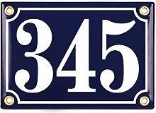 Sosenco Plaque Numéro de Maison | 12x17 cm |