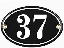 Sosenco Plaque Ovale Numéro de Maison | 10x15 cm