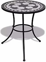 SOULONG Table de bistrot ronde en mosaïque Ø 60