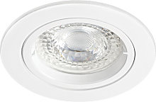 SPEED 50 R 230 - Encastre GU10, rond, fixe, blanc,