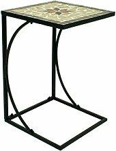 Spetebo Table d'appoint en métal avec plateau