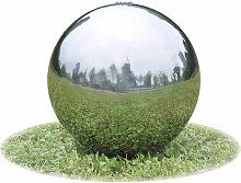 Sphère de fontaine de jardin avec LED Acier