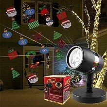 spil Lumières de Projection de fenêtre de Noël,