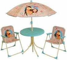 Spirit salon de jardin : 1 table ronde, 2 chaises,