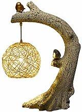 SPNEC Creative Nouveau chinois Retro Table Lampe