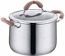 SPNEC Pan en acier inoxydable avec couvercle en