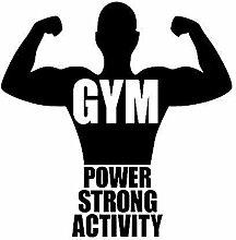 Sport Gym Art Vinyle Décalcomanies Muscle