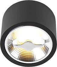 Spot de plafond moderne noir AR111 avec LED -