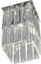 Spot design en cristal PRISMA chrome 1 ampoule,