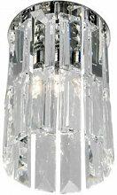 Spot design en cristal PRISMA chrome 1 ampoule