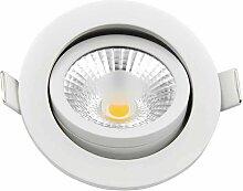 Spot encastrable 8W (70W) LED dimmable - Blanc