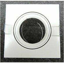 Spot encastré blanc carré 95x95mm orientable