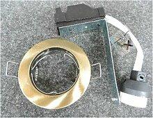 Spot encastré bronze fixe Ø 78mm pour lampe GU10