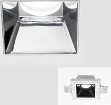 Spot encastré gfa641 12x12 chrome moderne plâtre