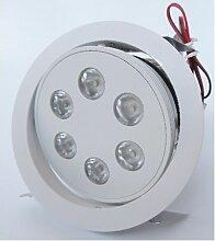 Spot encastré LED 18W Ø 135mm blanc mat