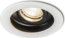Spot encastré moderne en acier blanc - Rondoo
