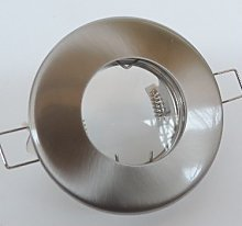Spot encastré SDB Ø 85mm acier inox fixe pour