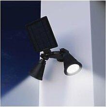 Spot exterieur projecteur double spot solaire