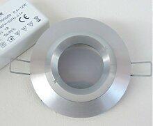 Spot LED 6W encastré Ø 80mm aluminium fixe avec