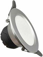 Spot LED Encastrable 6W Rond ARGENT - Blanc Neutre
