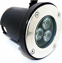 Spot LED Encastrable Extérieur IP65 3W 80° -
