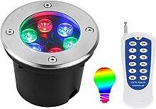 Spot LED Encastrable Extérieur, RGB Projecteur de