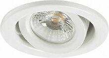 Spot LED encastre orientable 600lm blanc chaud