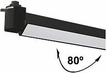 Spot LED pour Rail Lineal 80º 24W Noir
