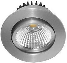 Spot LED Rond 6W 4000K Aluminium