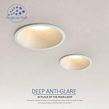 Spot lumineux encastrable rond antireflet,