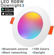 Spot lumineux LED RGB avec Bluetooth, 220V,