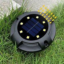 Spot lumineux solaire en acier inoxydable,