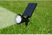 Spot solaire projecteur 2 en 1 à piquer ou à