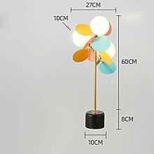 Springhua Lampes moderne fleur en métal léger