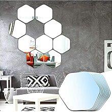 Sqinor Miroir Mural Verriere Adhesif Hexagonal