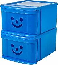 SSD-MD Boite de rangement enfants. Plastique. Bleu