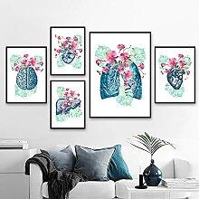 SSHABC Anatomie Art Fleurs Humaines Coeur Cerveau