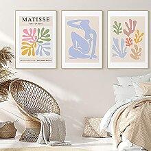 SSHABC Matisse Rose Fleur Exposition Corps Affiche