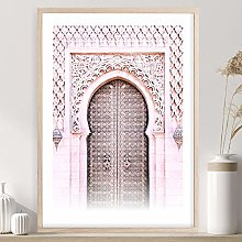 SSHABC Rose marocain Arc Voyage Mur Art Toile