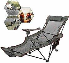 SSJIA Chaise de Camping Chaise de Plage Pliante