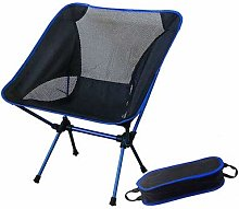 SSJIA Chaise de Camping Portable Gris Lune Chaise