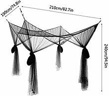 Staché confortable moustiquaire de grand rideau