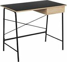 Stael - bureau avec tiroir et piétement