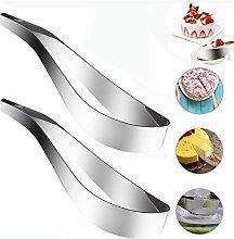 Stainless Steel Cake Server, 2PCS Serveur de