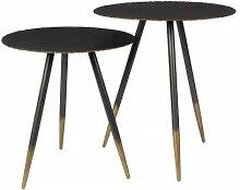 STALWART - Set de 2 tables / bouts de canapé en