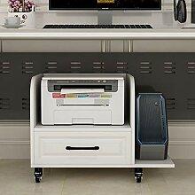 Stand d'imprimante Mobiles en bois sous bureau